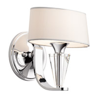 Kichler 42028CH Crystal Persuasion 1 Light 9 inch Chrome Wall Sconce Wall Light
