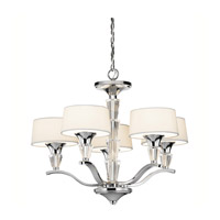 Crystal Persuasion 5 Light 17 inch Chrome Mini Chandelier Ceiling Light
