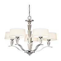 Crystal Persuasion 5 Light 30 inch Chrome Chandelier Ceiling Light
