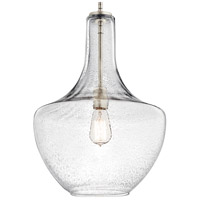 Kichler 42046NICS Everly 1 Light 14 inch Brushed Nickel Pendant Ceiling Light in Clear Seedy alternative photo thumbnail