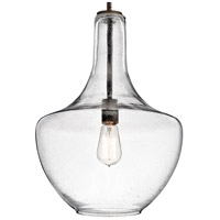 Kichler 42046OZCS Everly 1 Light 14 inch Olde Bronze Pendant Ceiling Light in Clear Seedy alternative photo thumbnail