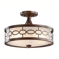 Kichler Lighting Punctuation 3 Light Semi-Flush in Mission Bronze 42051MIZ