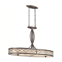 Kichler Lighting Punctuation 6 Light Chandelier in Mission Bronze 42054MIZ photo thumbnail