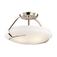Kichler Lighting Signature 4 Light Semi-Flush in Polished Nickel 42063PN photo thumbnail