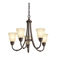Kichler 42064OZ Durham 5 Light 24 inch Olde Bronze Chandelier Ceiling Light
