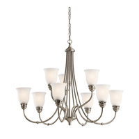 Kichler 42066AP Durham 9 Light 34 inch Antique Pewter Chandelier Ceiling Light