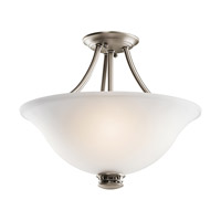 Kichler Lighting Durham 2 Light Semi-Flush in Antique Pewter 42070AP