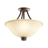 Kichler Lighting Durham 2 Light Semi-Flush in Olde Bronze 42070OZ photo thumbnail