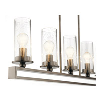 Kichler 42124CLP Kayde 5 Light 40 inch Classic Pewter Linear Chandelier Ceiling Light, Single alternative photo thumbnail