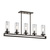 Kichler 42124OZ Kayde 5 Light 4 inch Olde Bronze Chandelier Linear (Single) Ceiling Light