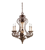 Kichler Lighting Sabrina 5 Light Chandelier in Lincoln Bronze 42127LBZ photo thumbnail