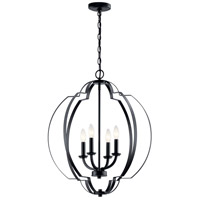 Kichler 42138BK Voleta 4 Light 22 inch Black Foyer Pendant Ceiling Light