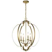 Kichler 42138NBR Voleta 4 Light 22 inch Natural Brass Large Foyer Pendants Ceiling Light, Large