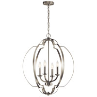 Kichler 42138NI Voleta 4 Light 22 inch Brushed Nickel Foyer Pendant Ceiling Light