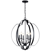 Kichler 42139BK Voleta 6 Light 28 inch Black Chandelier Ceiling Light