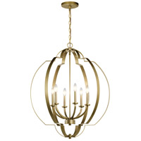 Kichler 42139NBR Voleta 6 Light 28 inch Natural Brass Chandelier Foyer Ceiling Light