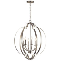Kichler 42139NI Voleta 6 Light 28 inch Brushed Nickel Chandelier Ceiling Light