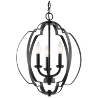 Kichler 42140BK Voleta 3 Light 17 inch Black Pendant Ceiling Light alternative photo thumbnail