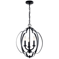 Kichler 42140BK Voleta 3 Light 17 inch Black Pendant Ceiling Light photo thumbnail