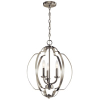 Kichler 42140NI Voleta 3 Light 17 inch Brushed Nickel Pendant Ceiling Light