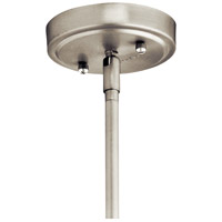 Kichler 42141NICS Everly 1 Light 11 inch Brushed Nickel Pendant Ceiling Light in Clear Seedy alternative photo thumbnail