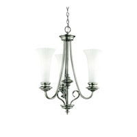 Kichler Lighting Abbeyville 3 Light Chandelier in Brushed Pewter 42150BPT