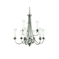 Kichler Lighting Abbeyville 9 Light Chandelier in Brushed Pewter 42153BPT
