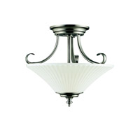Kichler Lighting Abbeyville 3 Light Semi-Flush in Brushed Pewter 42155BPT