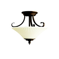 Kichler Lighting Abbeyville 3 Light Semi-Flush in Olde Bronze 42155OZ