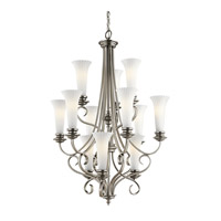 Kichler Lighting Abbeyville 12 Light Chandelier in Brushed Pewter 42156BPT