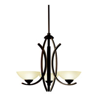 Kichler Lighting Bellamy 3 Light Chandelier in Olde Bronze 42158OZ photo thumbnail
