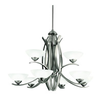 Kichler Lighting Bellamy 9 Light Chandelier in Antique Pewter 42160AP photo thumbnail