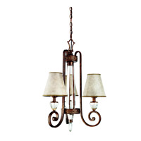 Kichler Lighting Hanna 3 Light Chandelier in Heritage Bronze 42168HB