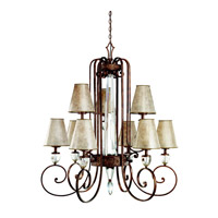 Kichler Lighting Hanna 9 Light Chandelier in Heritage Bronze 42171HB photo thumbnail