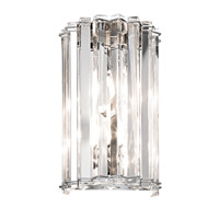 Kichler 42175CH Crystal Skye 2 Light 7 inch Chrome Wall Sconce Wall Light photo thumbnail