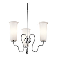 Kichler Lighting Nuwave 3 Light Chandelier in Chrome 42181CH photo thumbnail