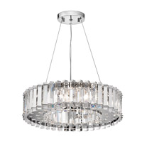 Crystal Skye 8 Light 21 inch Chrome Chandelier Ceiling Light