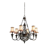 Kichler Lighting Marchesa 6 Light Chandelier in Terrene Bronze 42227TRZ photo thumbnail
