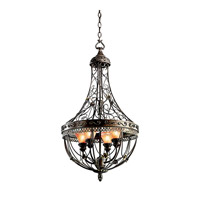 Kichler Lighting Marchesa 4 Light Foyer Chain Hung in Terrene Bronze 42230TRZ photo thumbnail