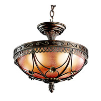 Kichler Lighting Marchesa 3 Light Semi-Flush in Terrene Bronze 42231TRZ photo thumbnail