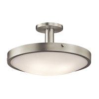 Kichler Lighting Lytham 4 Light Semi-Flush Mount in Brushed Nickel 42246NI