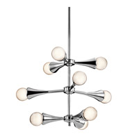 Kichler Lighting Lucien 9 Light Chandelier in Chrome 42256CH photo thumbnail