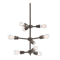 Kichler 42257OZ Lucien 9 Light 26 inch Olde Bronze Chandelier Ceiling Light