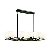 Kichler Lighting Brinbourne 10 Light Chandelier in Anvil Iron 42262AVI