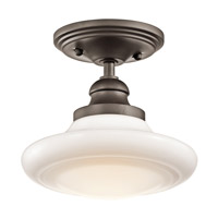 Kichler Lighting Keller 1 Light Pendant Convertible Semi-Flush Mount in Olde Bronze 42268OZ