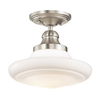 Kichler Lighting Keller 1 Light Semi-Flush Mount in Brushed Nickel 42269NI