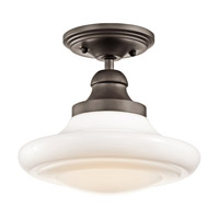 Kichler Lighting Keller 1 Light Pendant Convertible Semi-Flush Mount in Olde Bronze 42269OZ