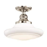 Kichler Lighting Keller 1 Light Pendant in Polished Nickel 42270PN