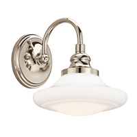 Kichler Lighting Keller 1 Light Wall Sconce in Polished Nickel 42271PN photo thumbnail