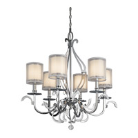 Kichler 42302CH Jardine 6 Light 31 inch Chrome Chandelier Ceiling Light